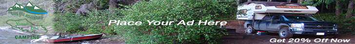 vancouver island camping advertising banner