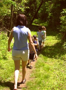 camping and hiking with the family