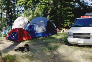 multiple tent camping trips