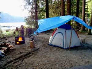 tent camping at cougar creek