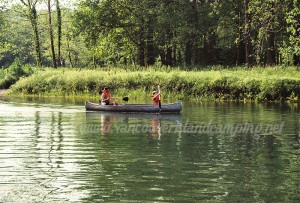 taking the stress out of camping by canoeing