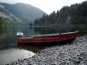 atluck lake boat ramp from vancouver island camping