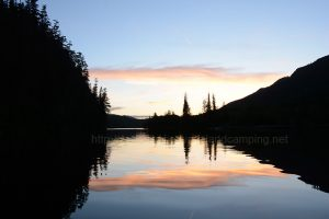 kathleen lake sunset camping vancouver island