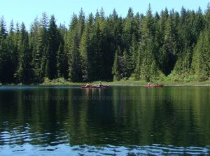canoes on gosling lake vancouver island camping